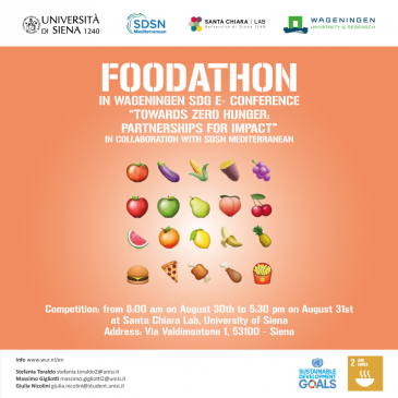 "SDG E-Conference ""Towards Zero Hunger: Partnerships for Impact"": Foodathon in Wageningen in collaboration with SDSN Mediterranean"