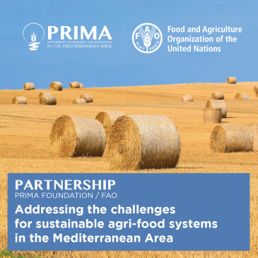 FAO and PRIMA Foundation: new partnership for innovation and education in agri-food, 10 February, 2019