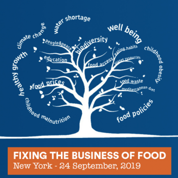 """""""Fixing the business of food"""", New York, September 24: launch event of the report on sustainable business practices in the food sector"""