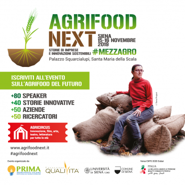 AgriFood Next: stories of enterprises and sustainable innovation, Siena, 15 -16 November 2019