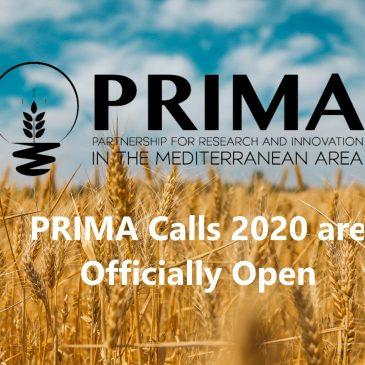 PRIMA calls 2020 open!