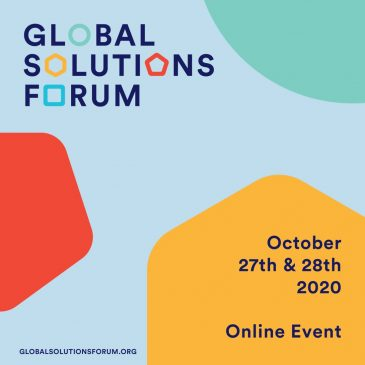 Global Solutions Forum 2020, October 27th & 28th, 2020